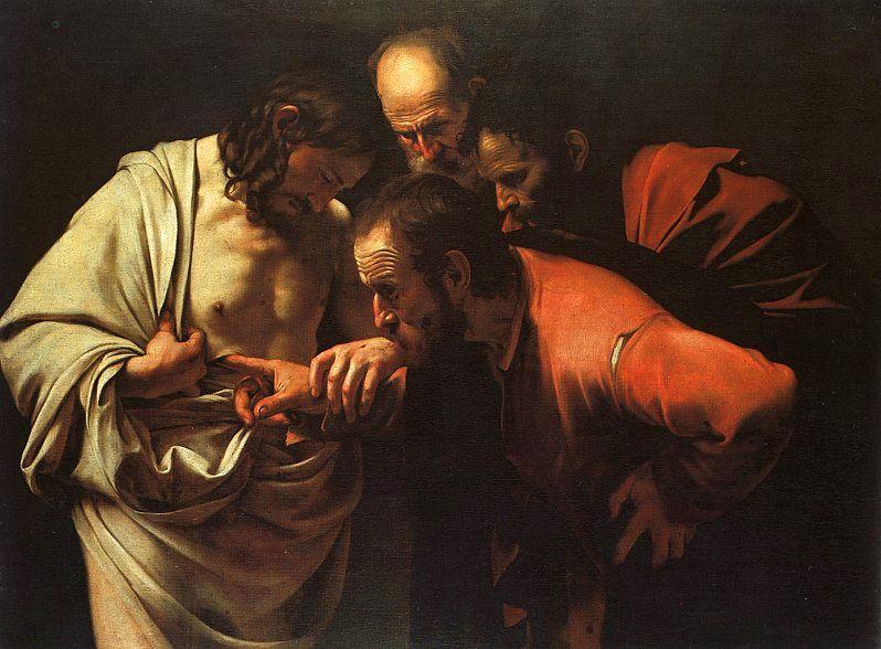 "Carvaggio's ""The Incredulity of Saint Thomas"""